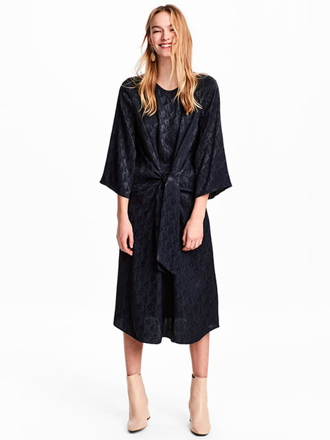 Платье темно-синее H&M 5171481