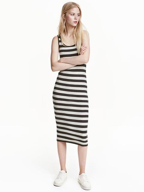 Платье черно-серое H&M 5171693