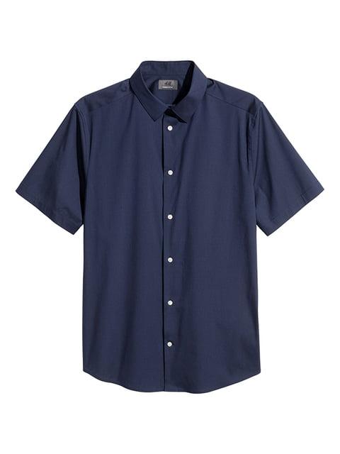 Рубашка темно-синяя H&M 5171814