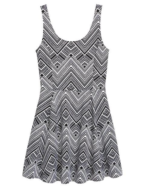 Платье черно-белое H&M 5171983