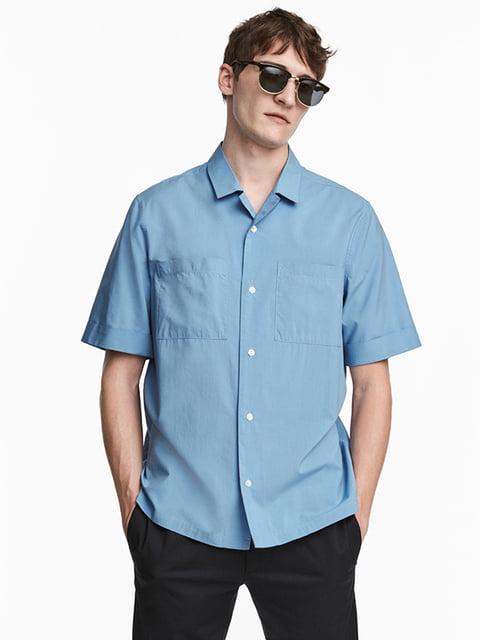 Рубашка голубая H&M 5172006