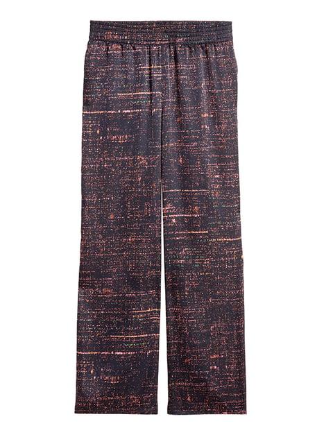 Штани чорні в принт H&M 5172484