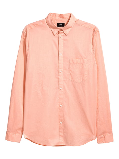 Рубашка персикового цвета H&M 5173088