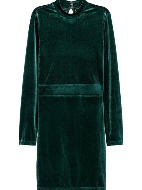 Платье темно-зеленое H&M 5173369