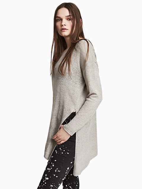 Джемпер серый H&M 5170717