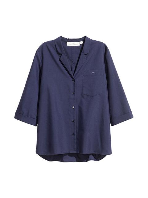 Рубашка темно-синяя H&M 5170831