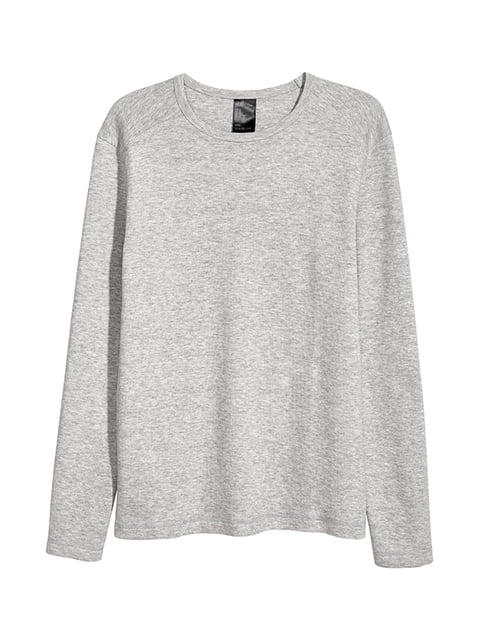 Лонгслив серый H&M 5171244