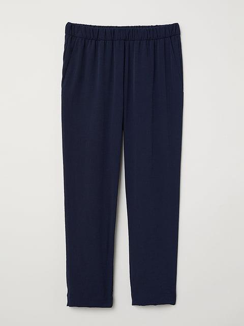 Брюки темно-синие H&M 5171316