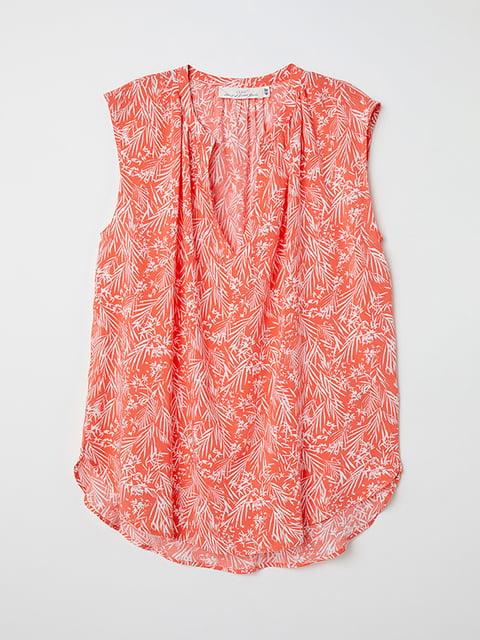 Блуза коралового кольору в принт H&M 5171492