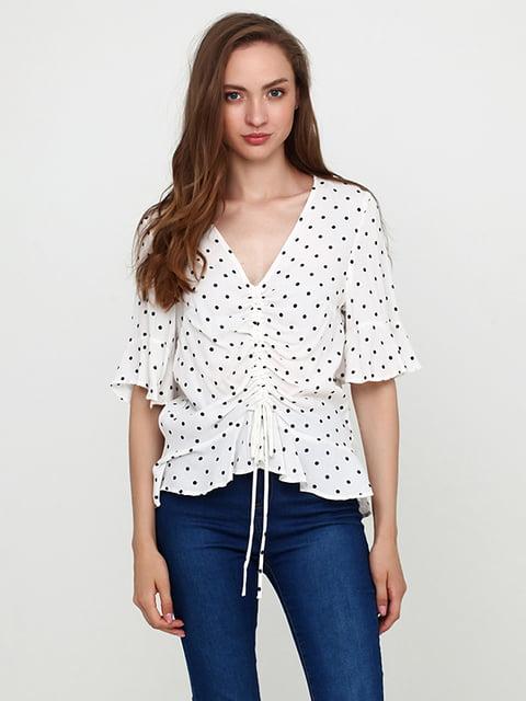 Блуза белая в принт H&M 5171508