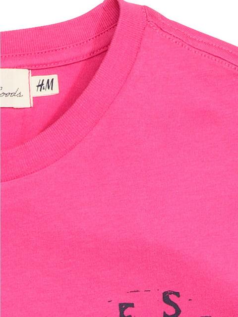 Футболка розовая H&M 5171862