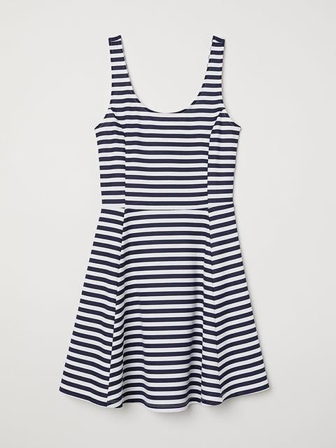 Платье бело-синее H&M 5171979