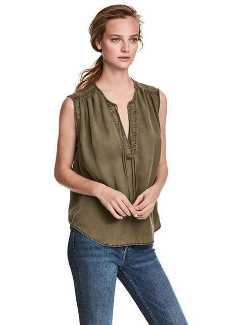 Блуза цвета хаки H&M 5172151
