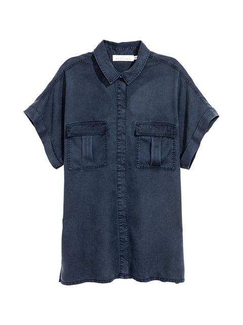Рубашка синяя H&M 5172156