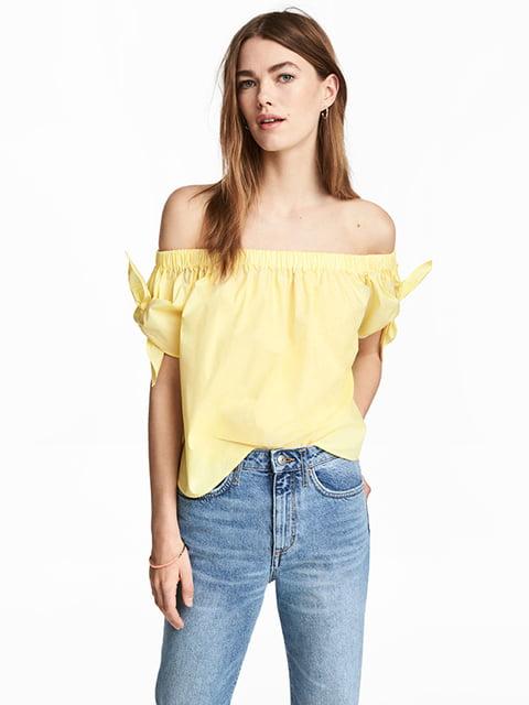 Блуза жовта H&M 5172348