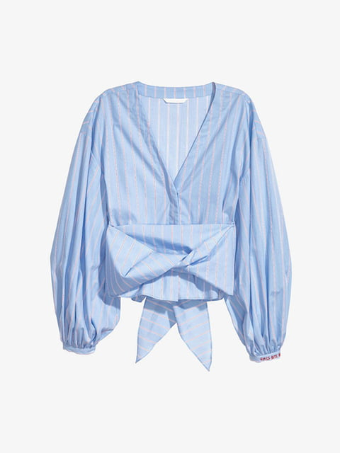 Блуза блакитна в смужку H&M 5172446
