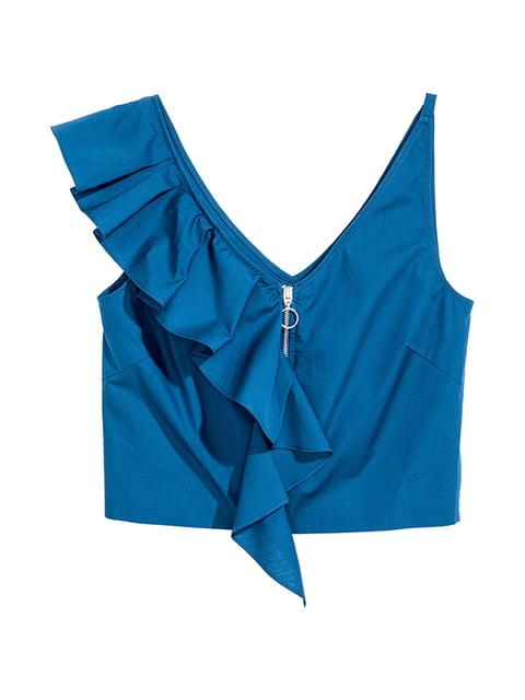 Топ синий H&M 5172488