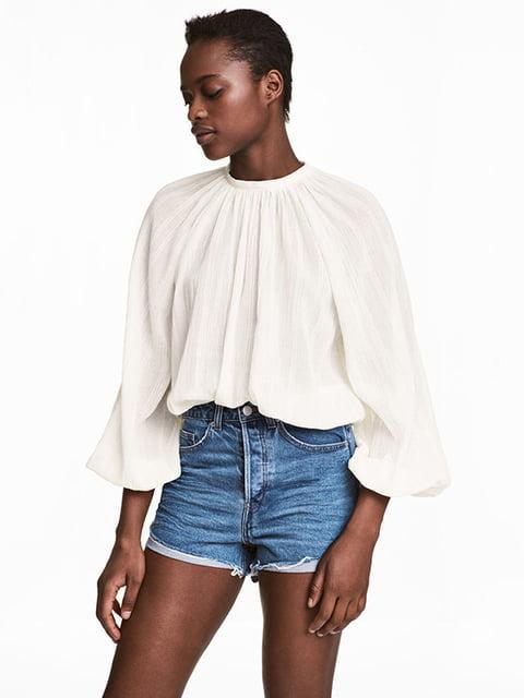 Блуза молочного цвета H&M 5172510