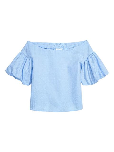 Блуза голубая H&M 5172514