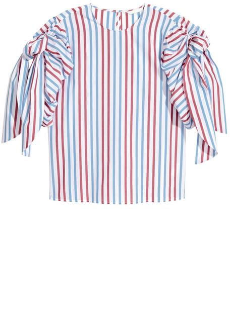 Блуза голубая в полоску H&M 5172628