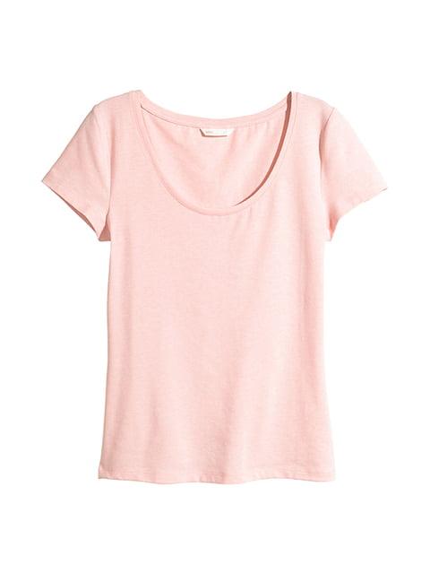 Футболка светло-розовая H&M 5172990