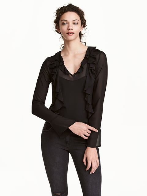 Блуза черная H&M 5173052