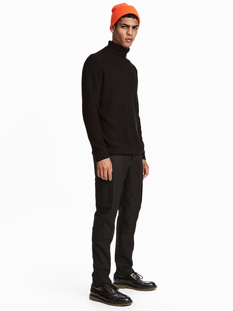 Брюки черные H&M 5173119
