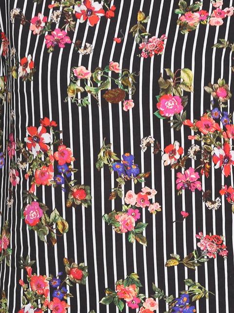 Блуза чорна в принт Street One 5170520