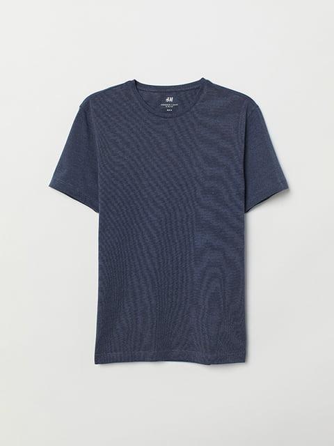 Футболка темно-синяя H&M 5171282