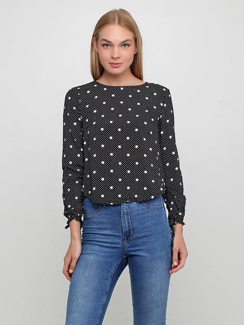 Блуза черная в горошек H&M 5171340