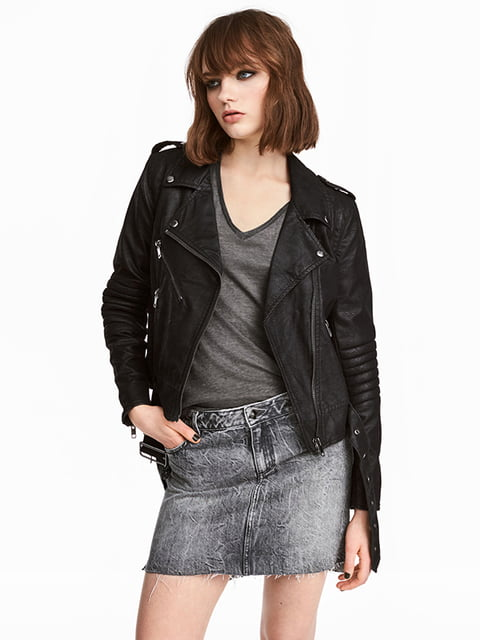 Юбка джинсовая серая H&M 5171954