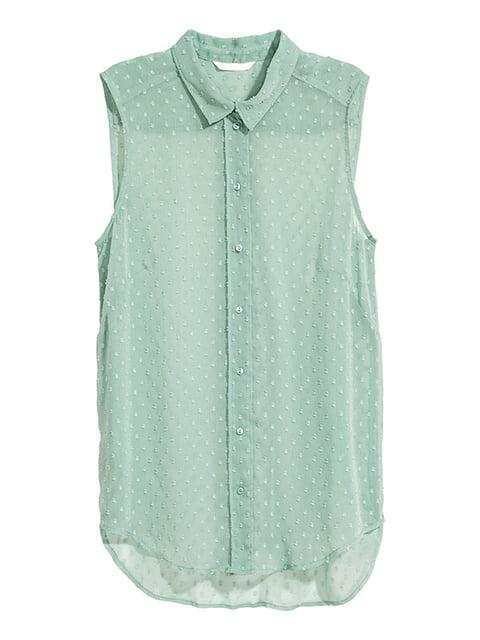 Блуза кольору м'яти H&M 5172200