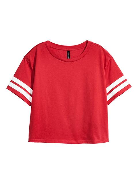 Топ красный H&M 5172338