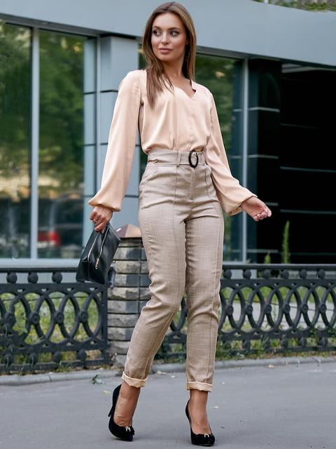 Блуза кофейного цвета Seventeen 5174833