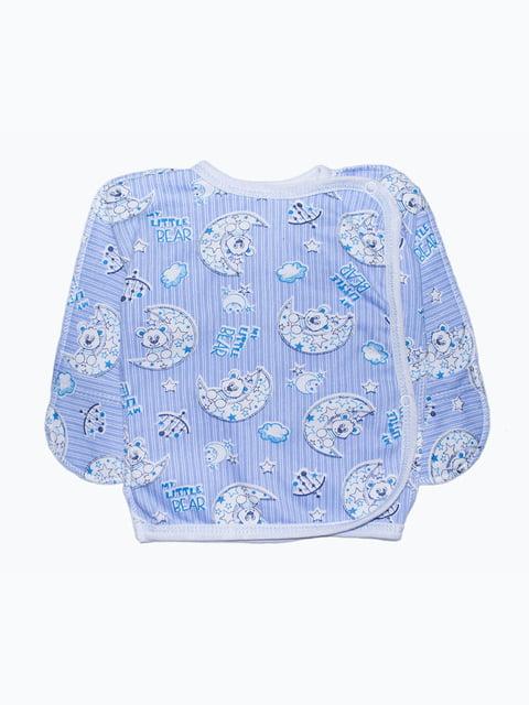 Сорочечка блакитна з принтом Малыш 5175748