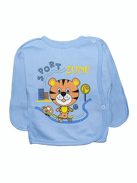 Сорочечка блакитна з принтом Малыш 5175768