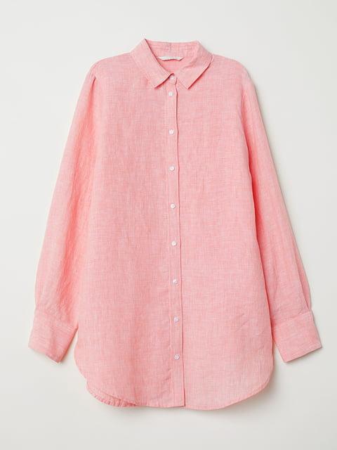 Рубашка светло-розовая H&M 5176660