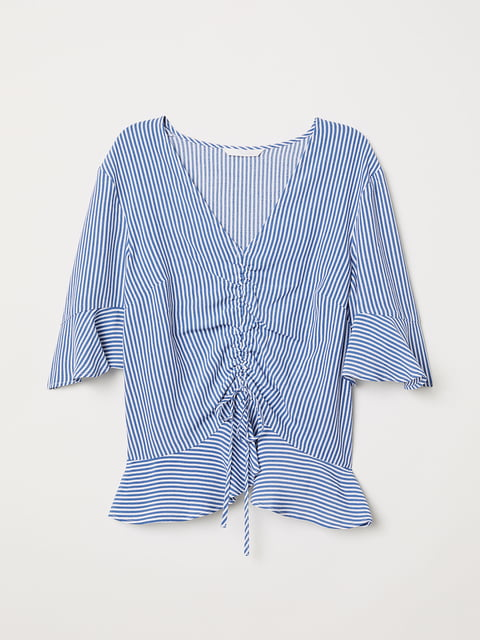 Блуза сине-белая H&M 5176714