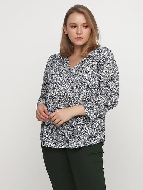 Блуза белая в принт H&M 5172293