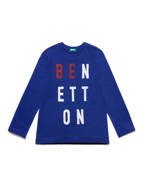 Лонгслів синій Benetton 5151097