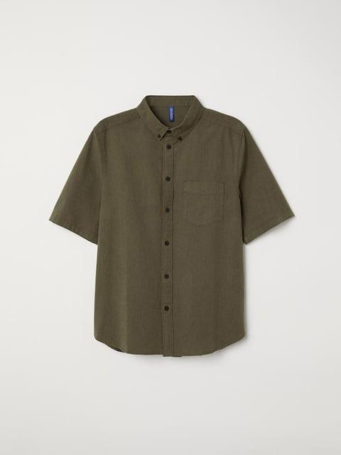 Рубашка цвета хаки H&M 5176148