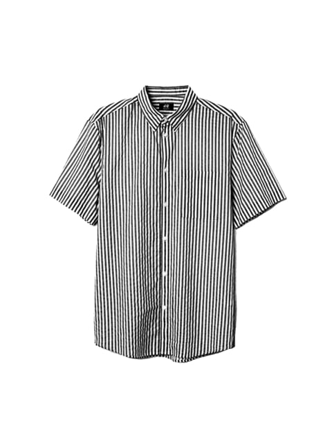 Рубашка черно-белая H&M 5176354