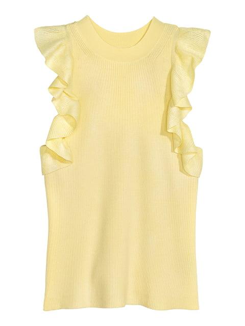 Топ светло-желтый H&M 5176374