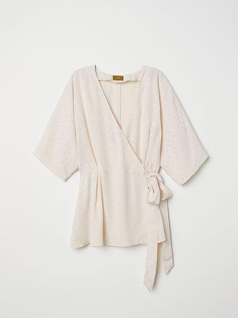 Блуза светло-бежевая H&M 5176684