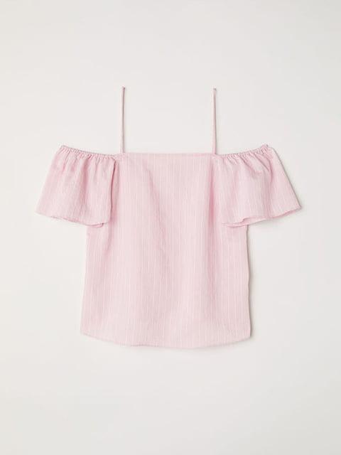 Топ светло-розовый H&M 5176699