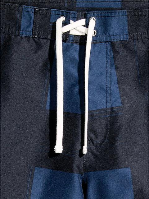 Шорты черно-синие H&M 5176485