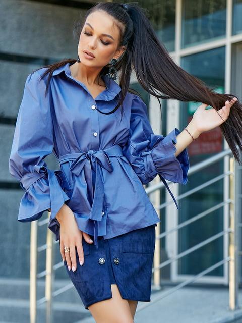 Рубашка синяя Seventeen 5178760