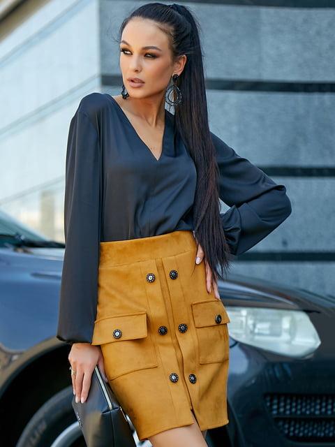 Блуза черная Seventeen 5178770