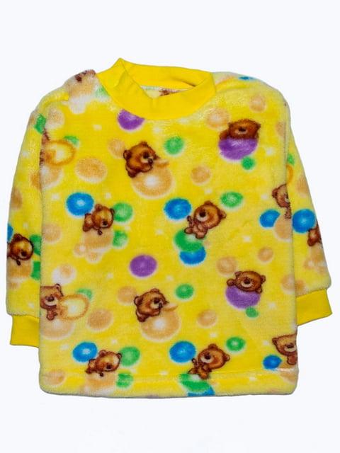 Джемпер жовтий в принт Малыш 5179004