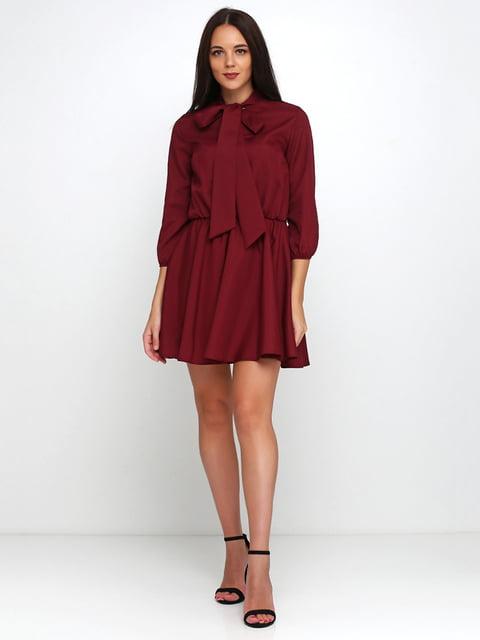 Платье бордовое Podium 5179351